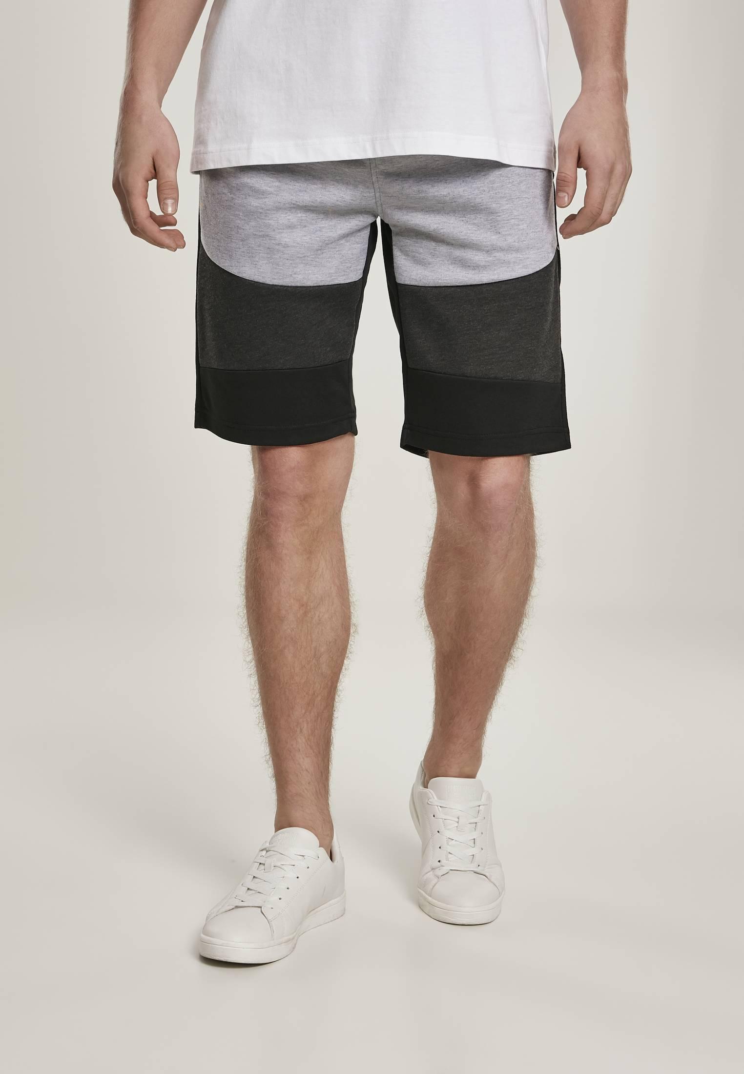 Southpole Color Block Tech Fleece Shorts black - L