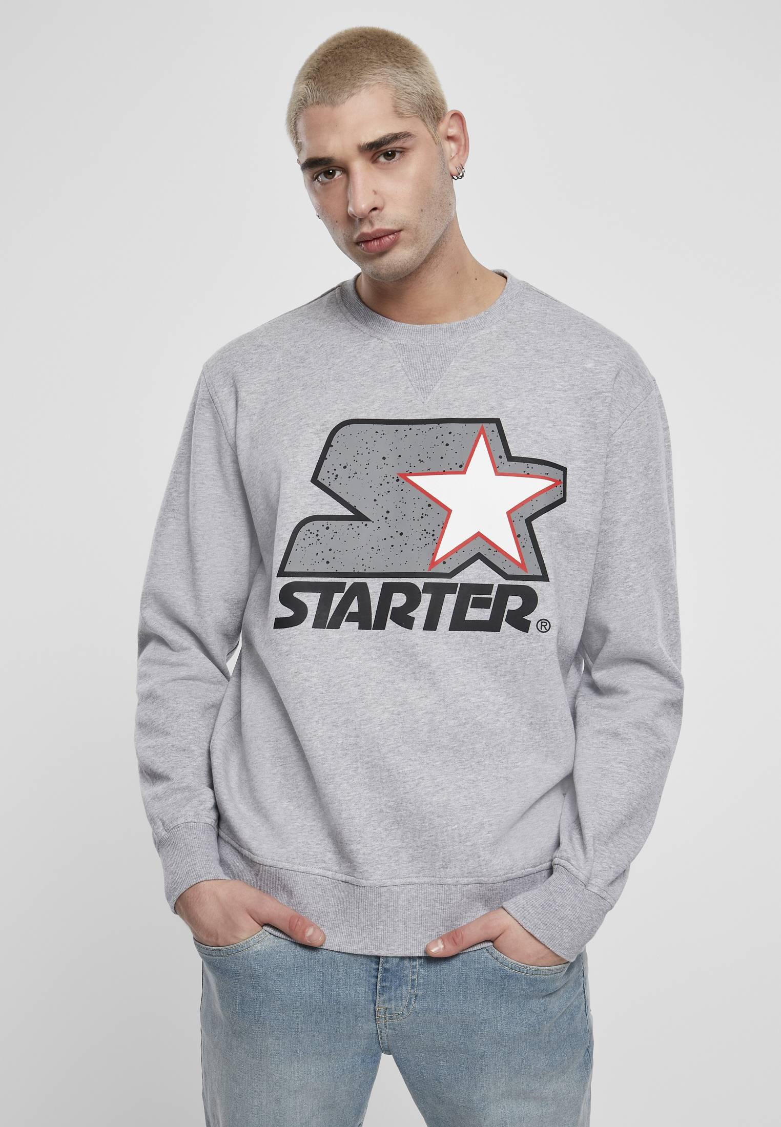 Starter Multicolored Logo Sweat Crewneck heather grey - L