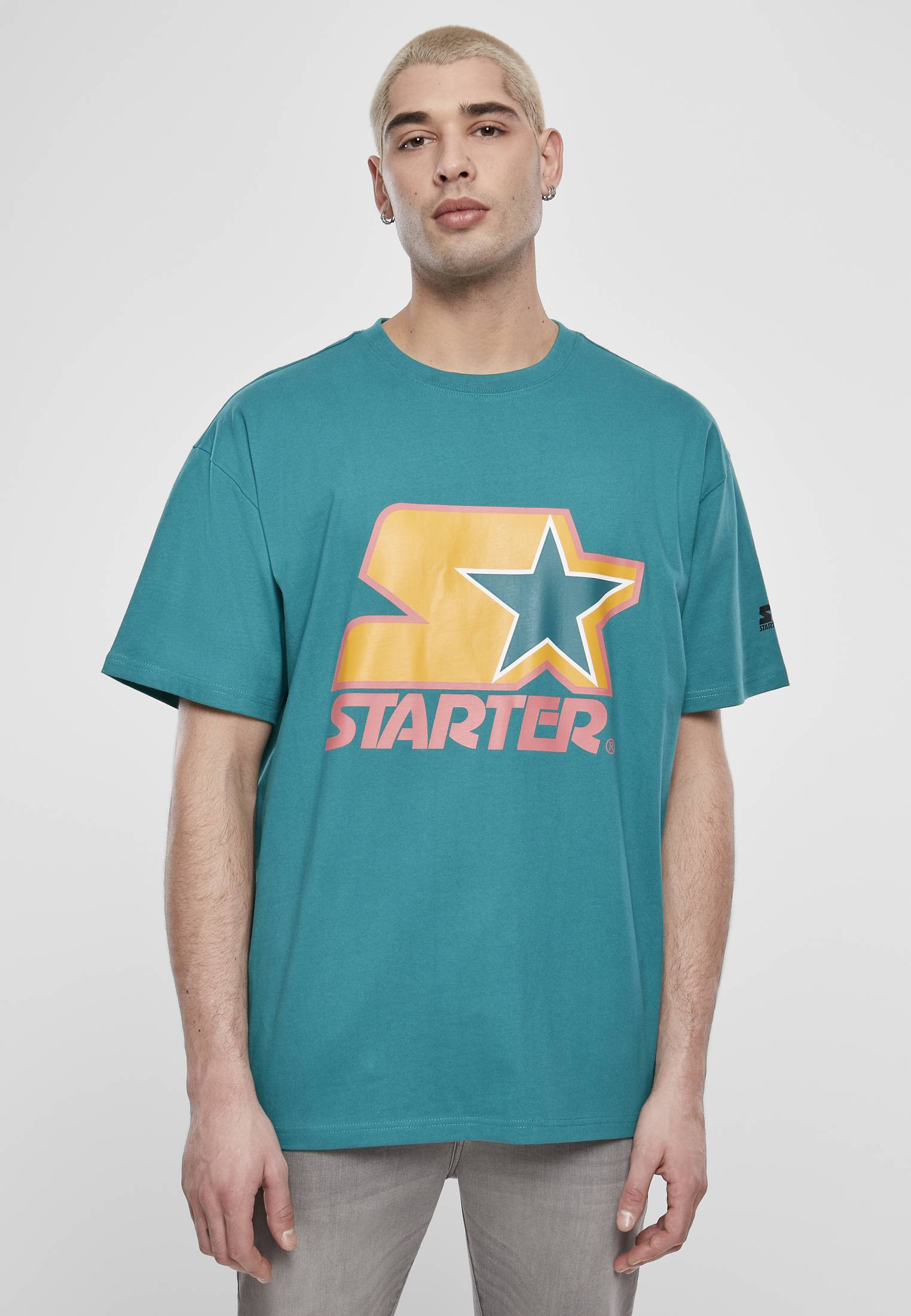 Starter Colored Logo Tee green/yellow/rose - L