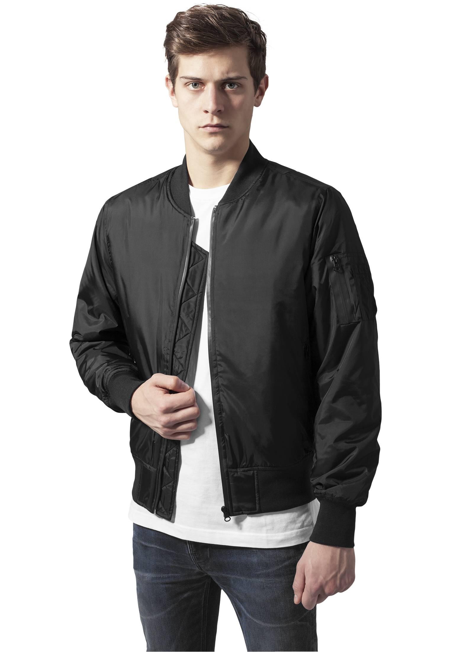 Urban Classics Tech Zip Bomber Jacket black - M