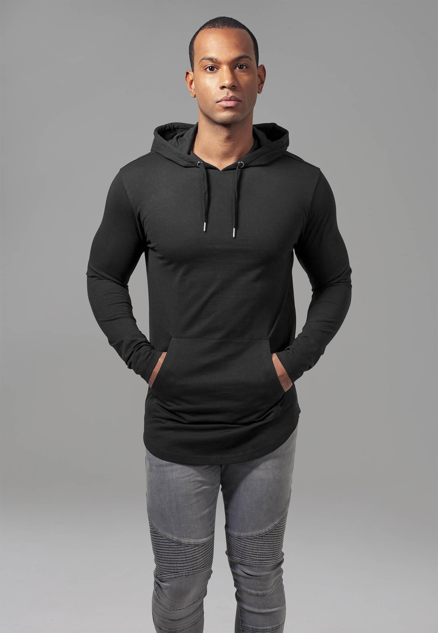 Urban Classics Jersey Hoody black - L