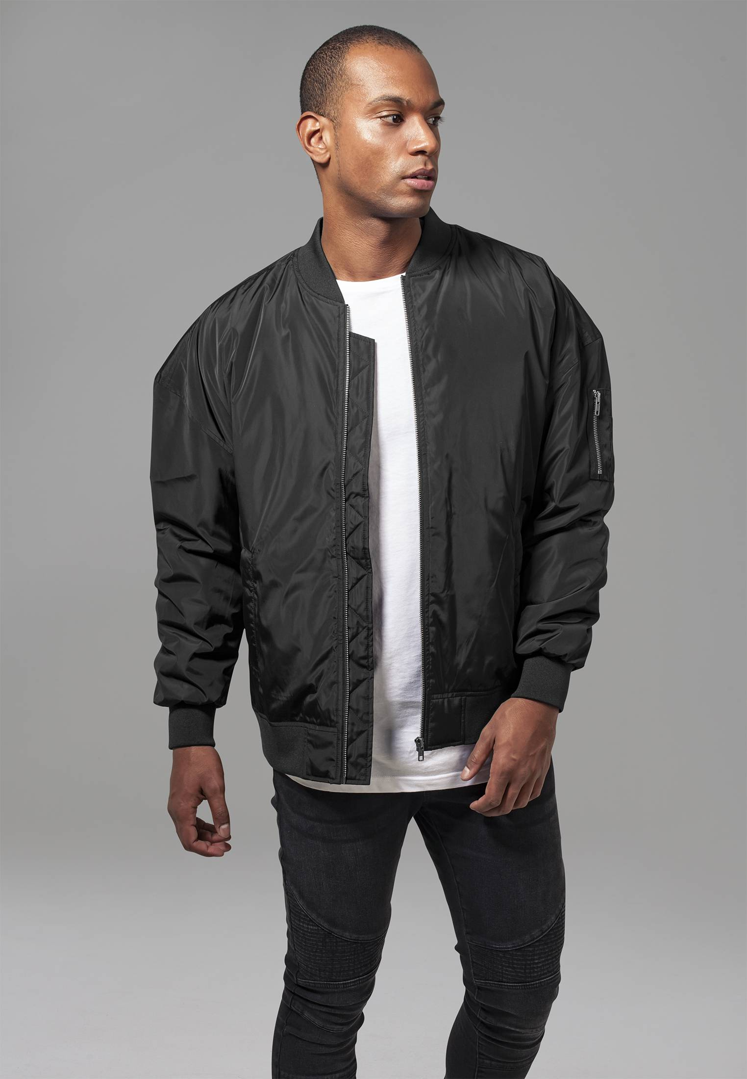 Oversized Bomber Jacket black - M