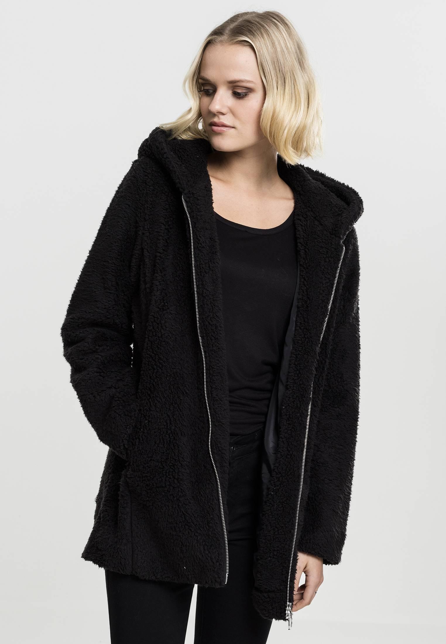 Urban Classics Ladies Sherpa Jacket black - L