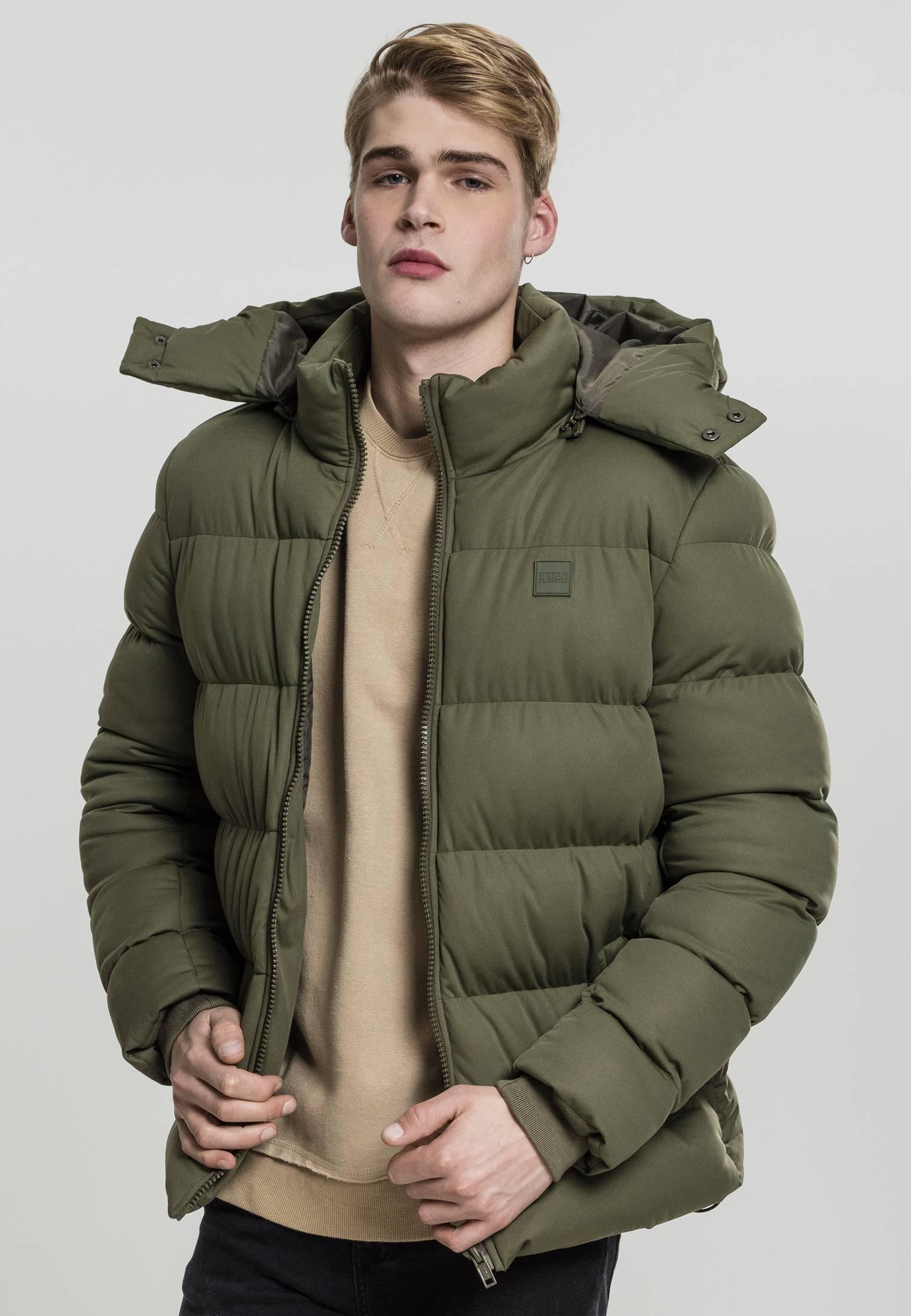Urban Classics Hooded Boxy Puffer Jacket olive - L