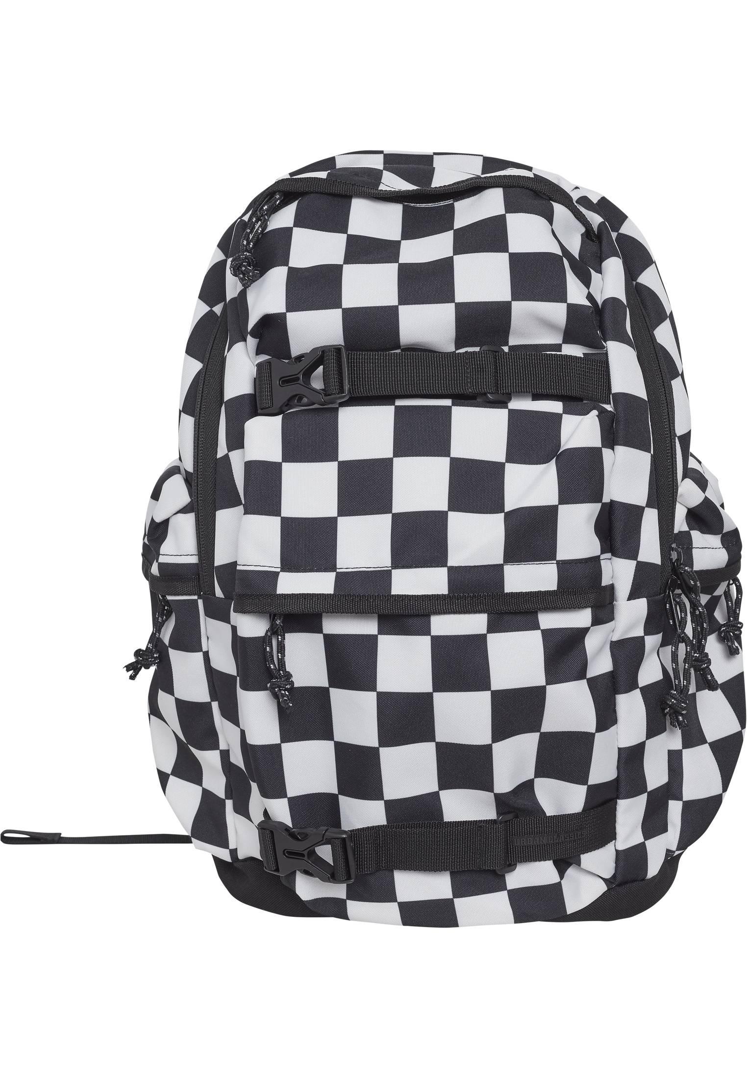 Urban Classics Backpack Checker black & white black/white - One Size