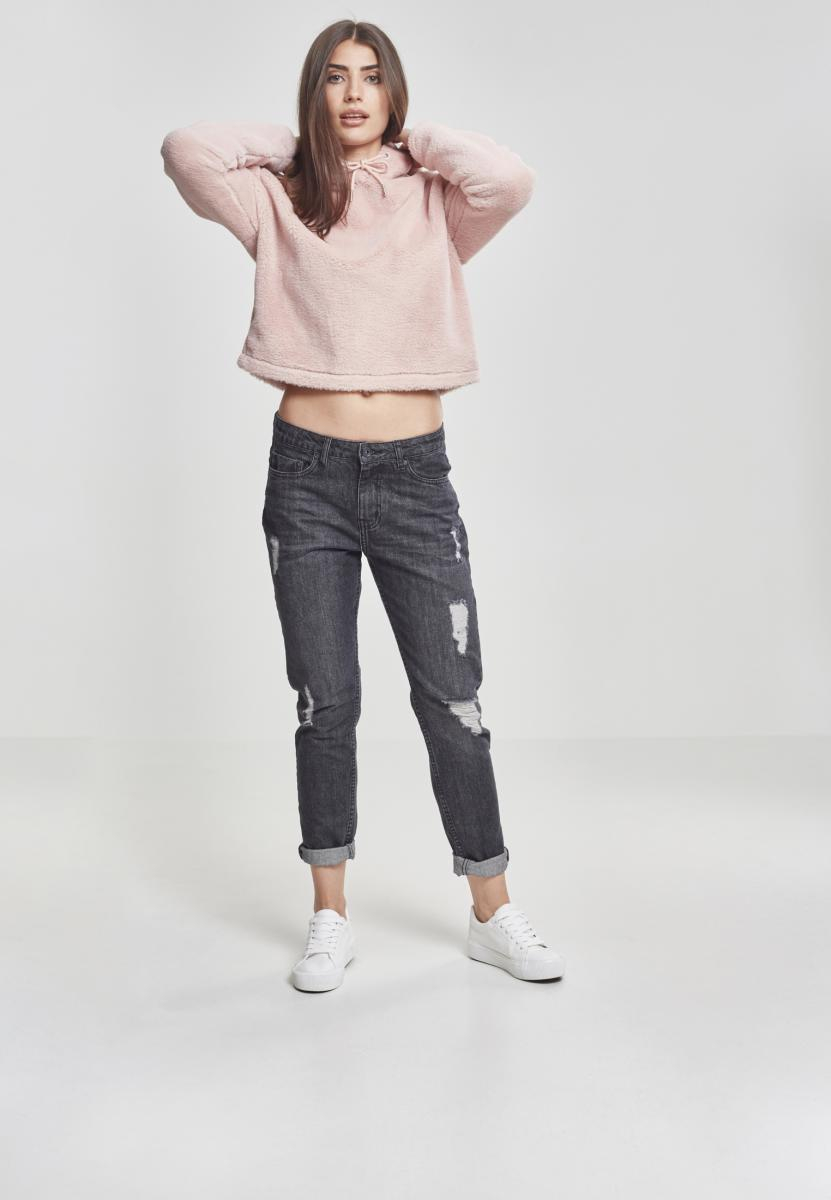 Urban Classics Ladies Oversize Short Teddy Hoody rose - L