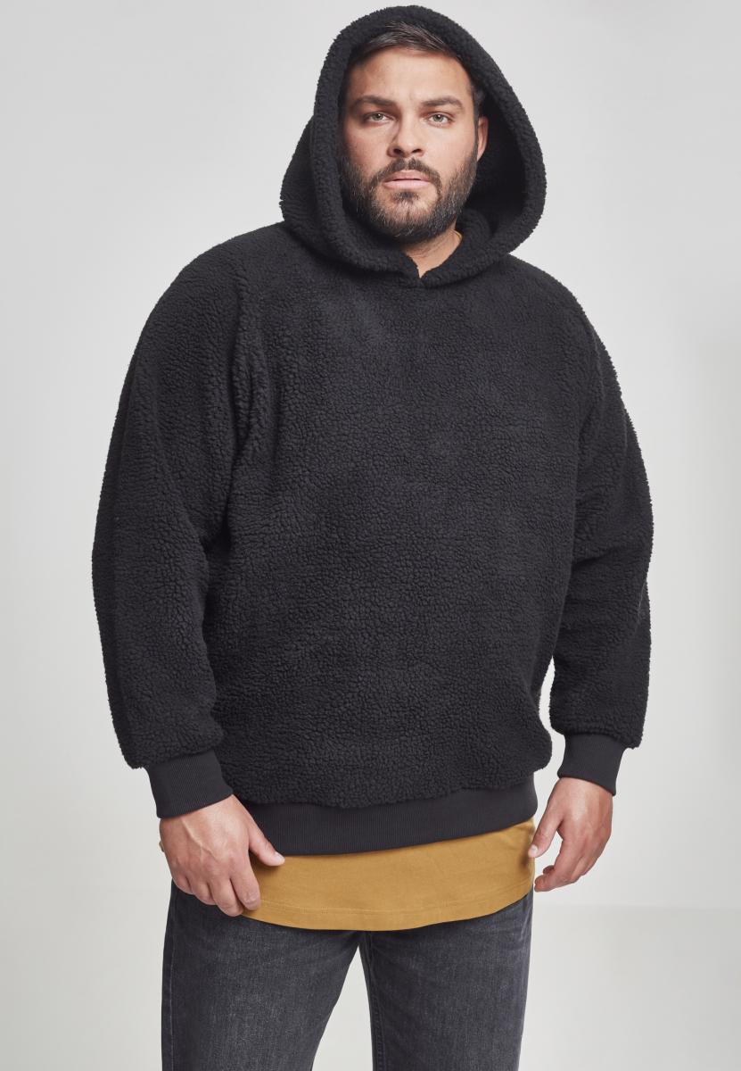 Urban Classics Sherpa Hoody black - 5XL