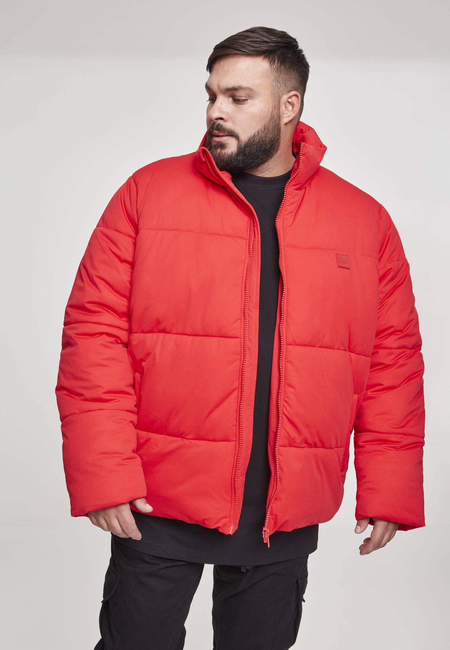 Urban Classics Boxy Puffer Jacket fire red - S