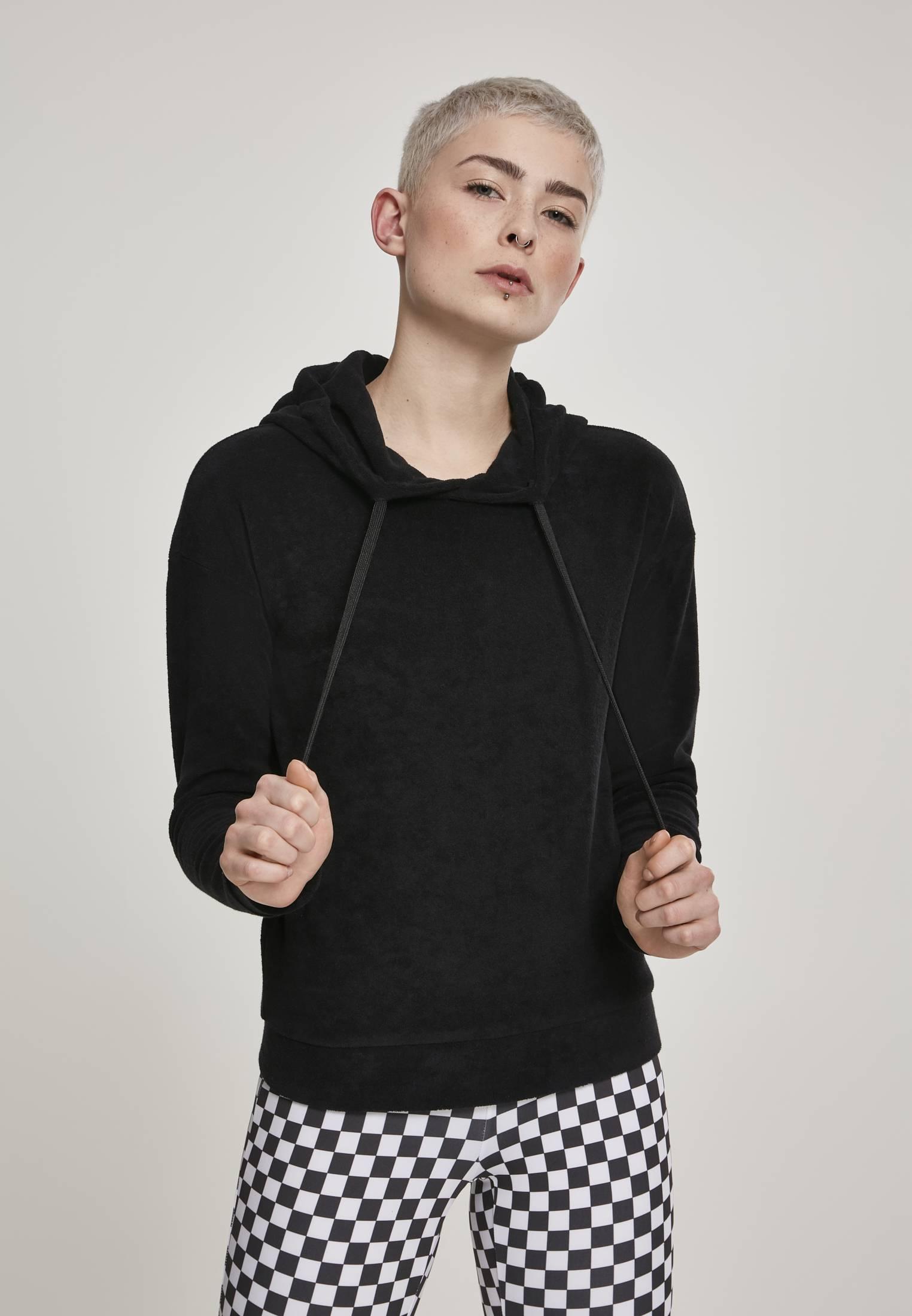 Urban Classics Ladies Towel Hoody black - XL