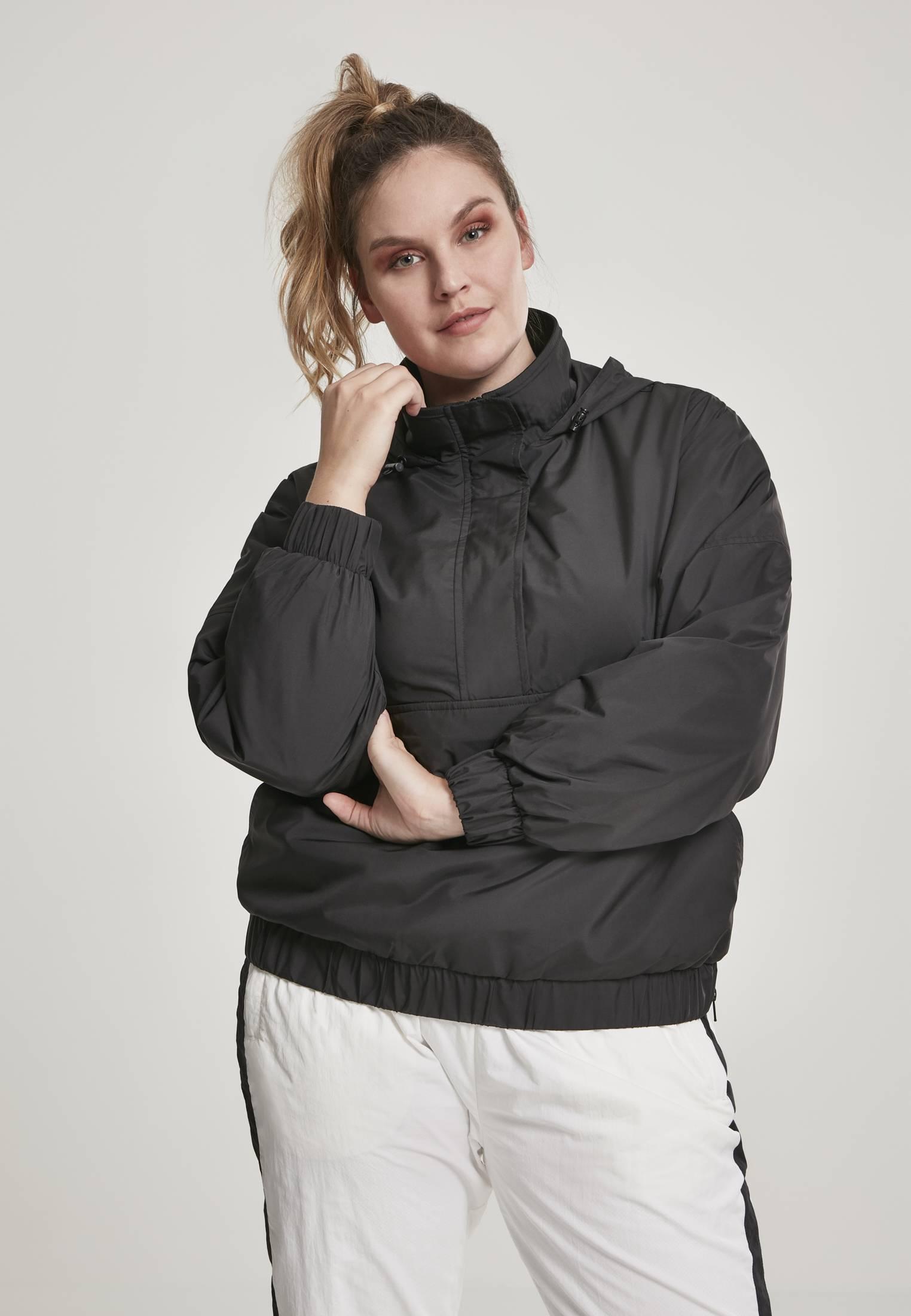 Urban Classics Ladies Panel Pull Over Jacket black - 3XL