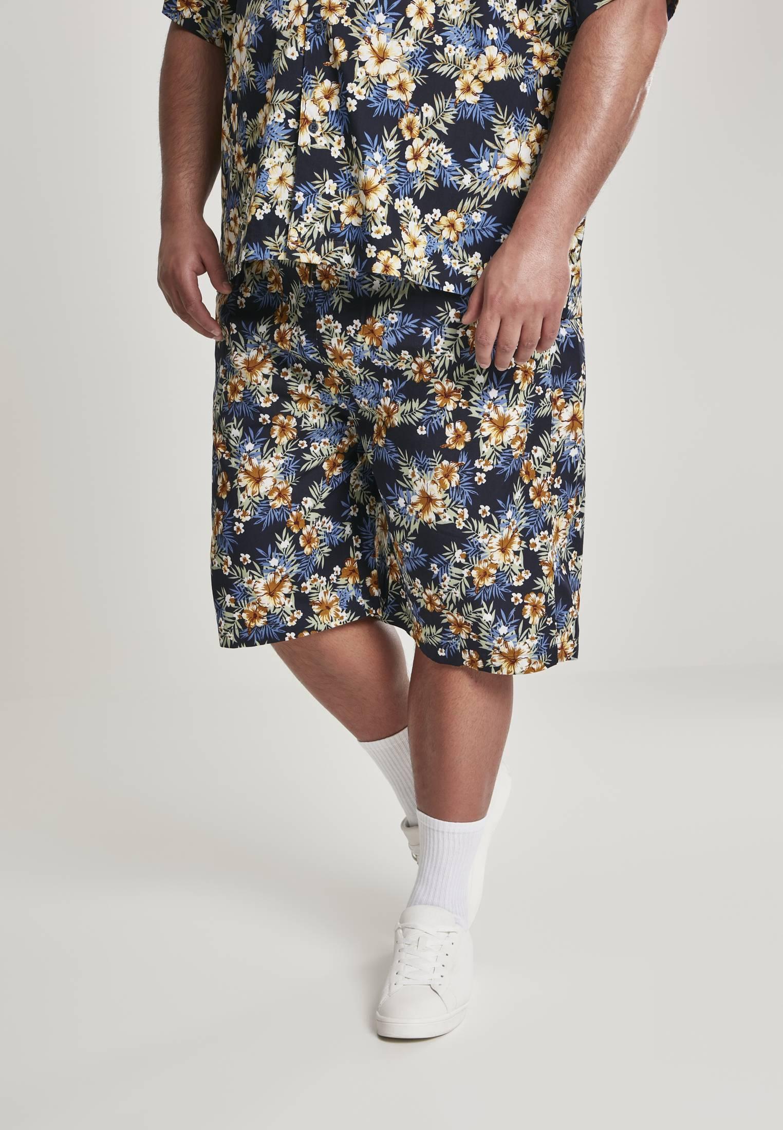 Urban Classics Pattern Resort Shorts hibiscus - 5XL