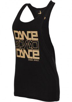 Urban Classics Dance Tanktop Blk Gold - L / čierna