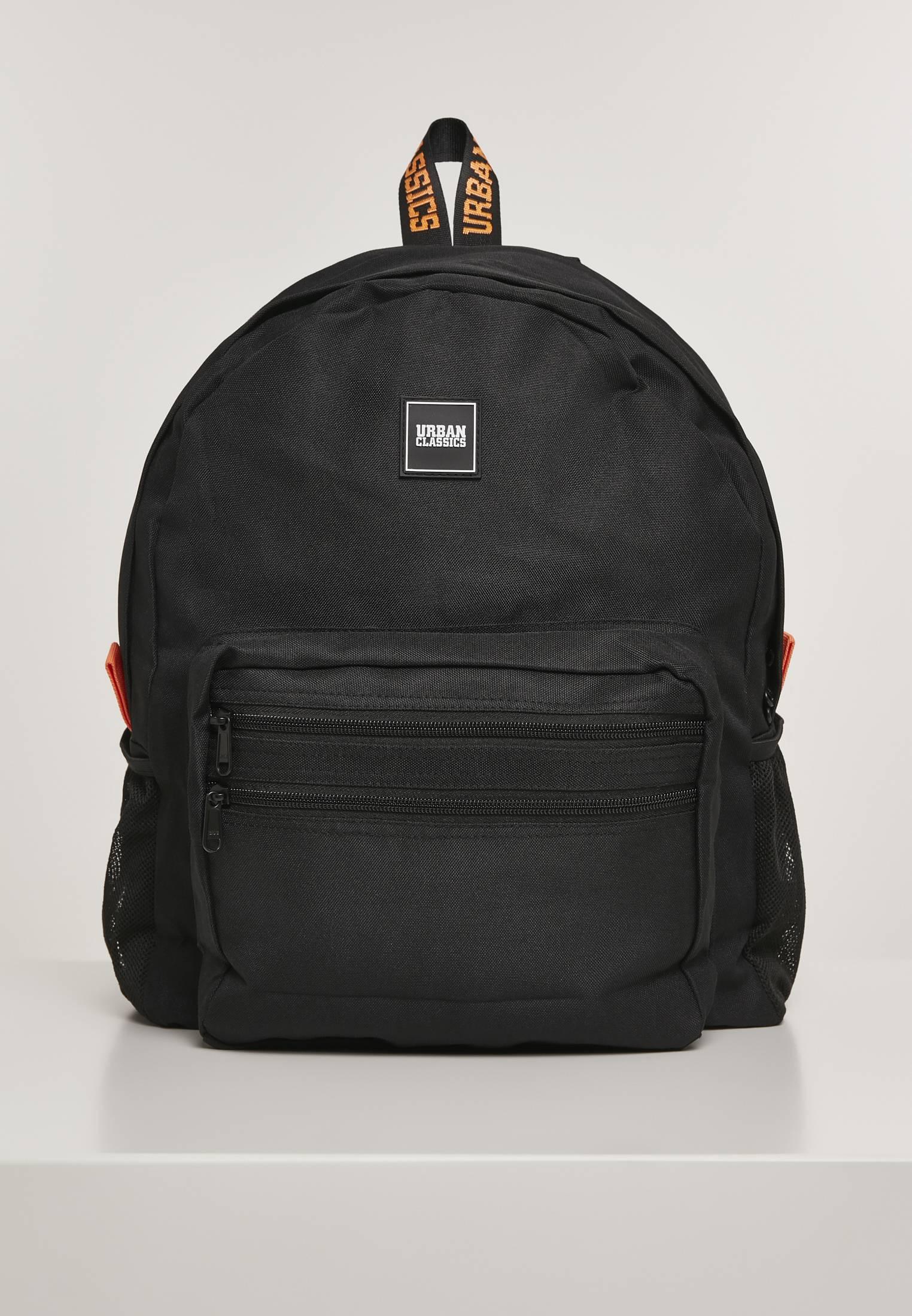 Urban Classics Basic Backpack black/orange - One Size