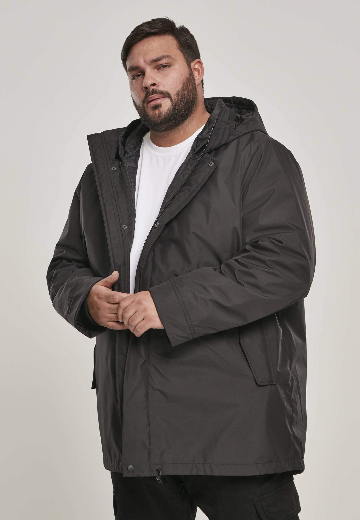 Urban Classics Hooded Long Jacket black - S