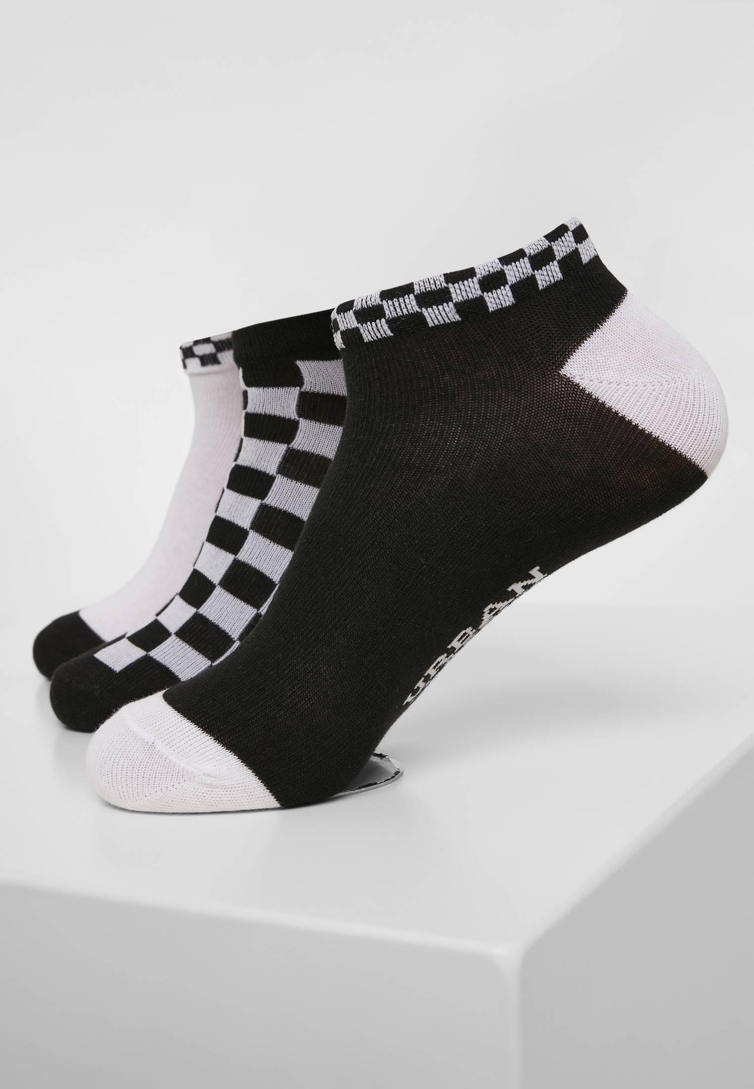 Urban Classics Sneaker Socks Checks 3-Pack black/white - 47-50