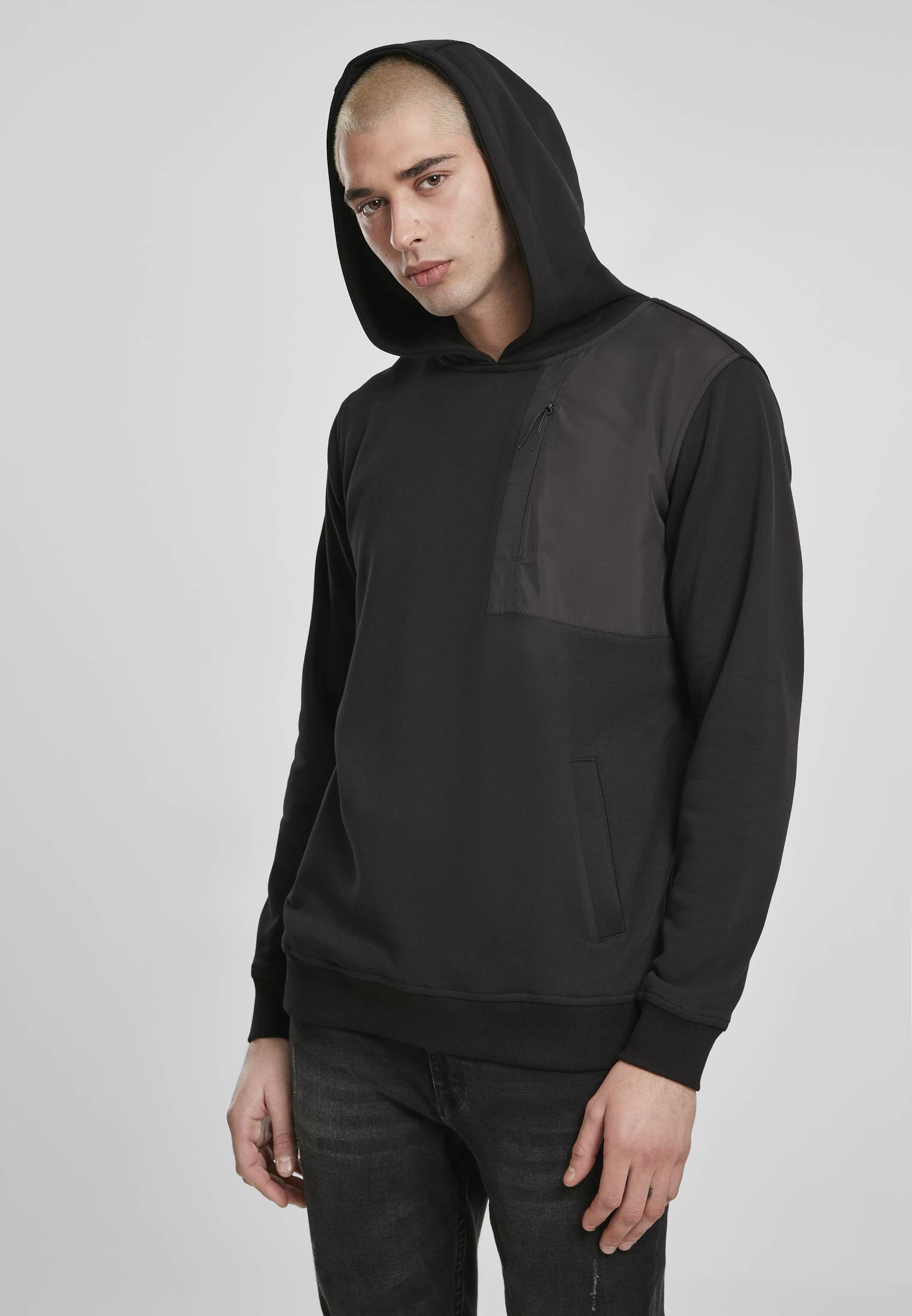Urban Classics Military Shoulder Pocket Hoodie black - M