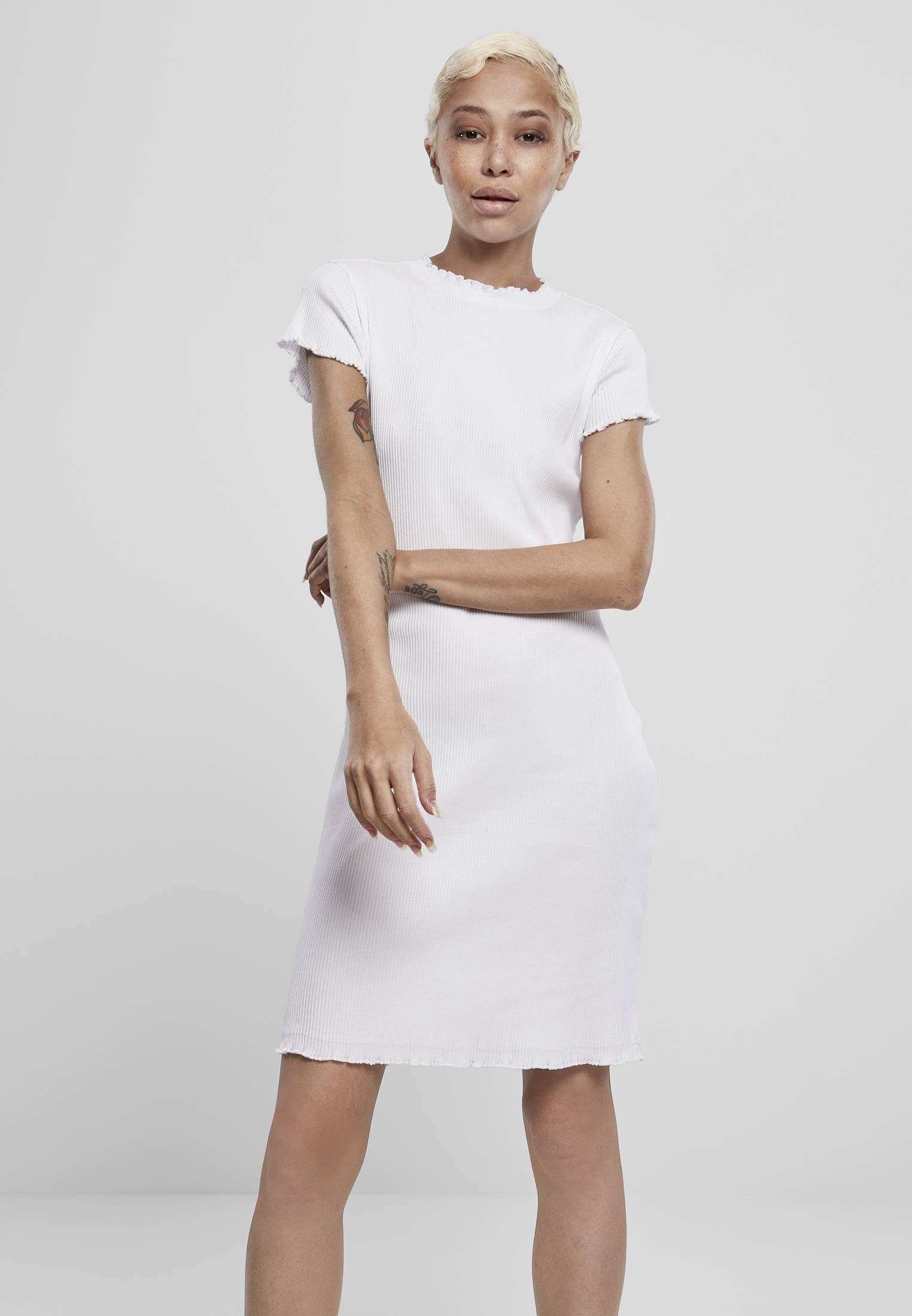 Urban Classics Ladies Rib Tee Dress white - XS