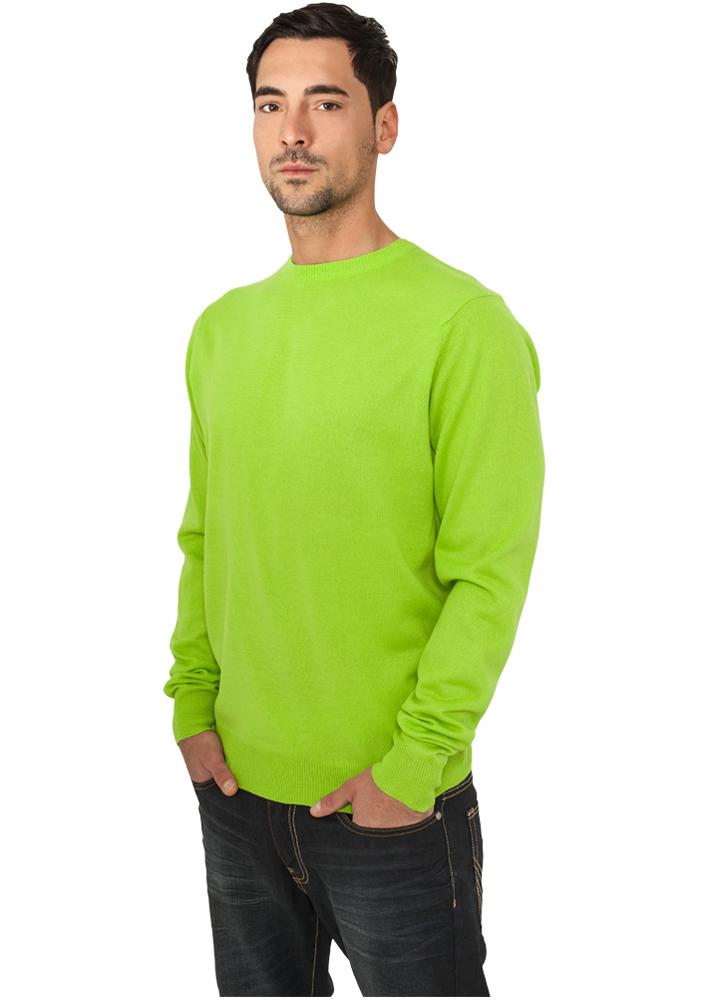Urban Classics Knitted Crewneck limegreen - S