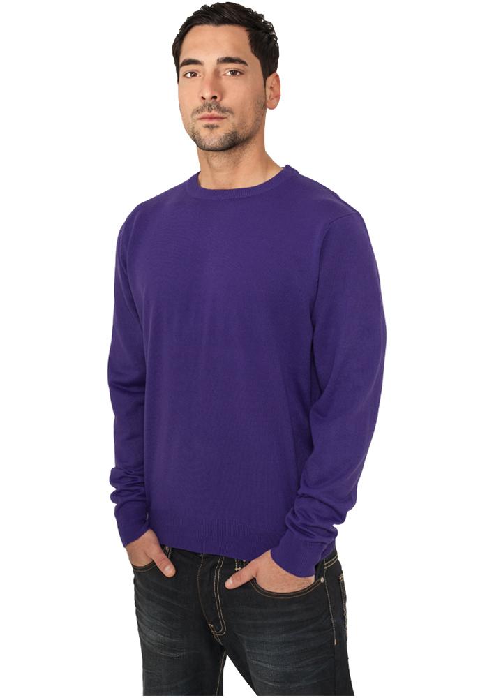 Urban Classics Knitted Crewneck purple - S