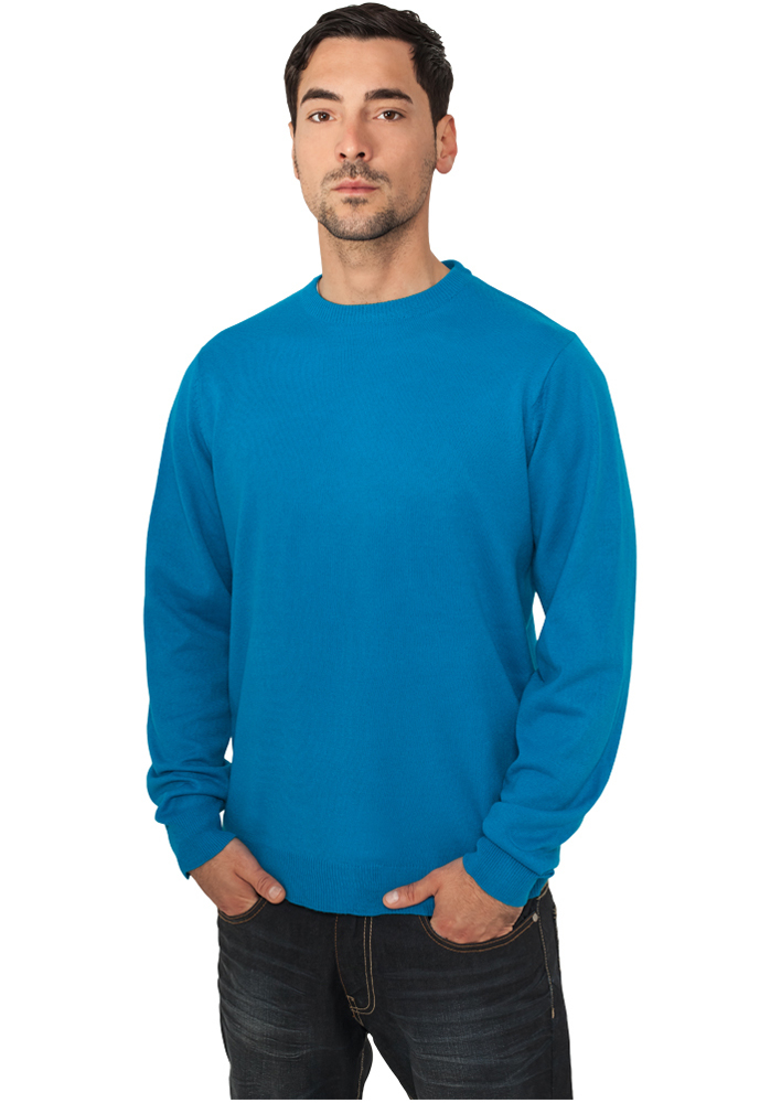 Urban Classics Knitted Crewneck turquoise - S
