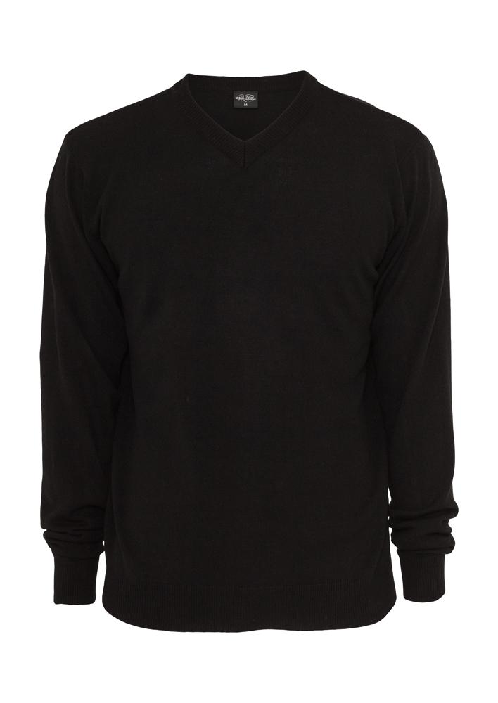 Urban Classics Knitted V-Neck black - S