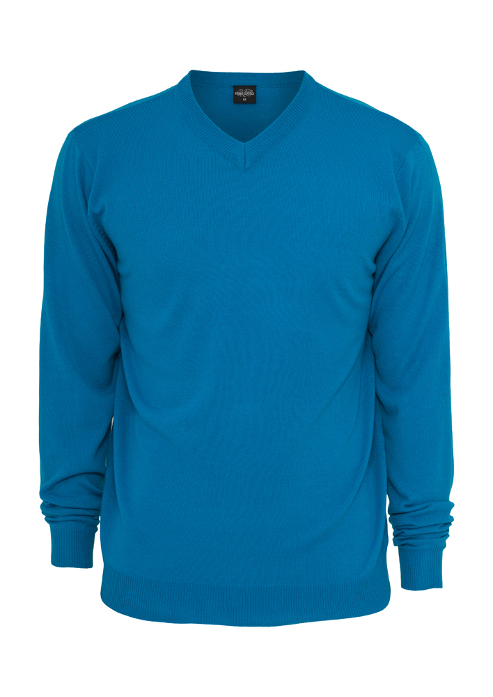 Urban Classics Knitted V-Neck turquoise - S