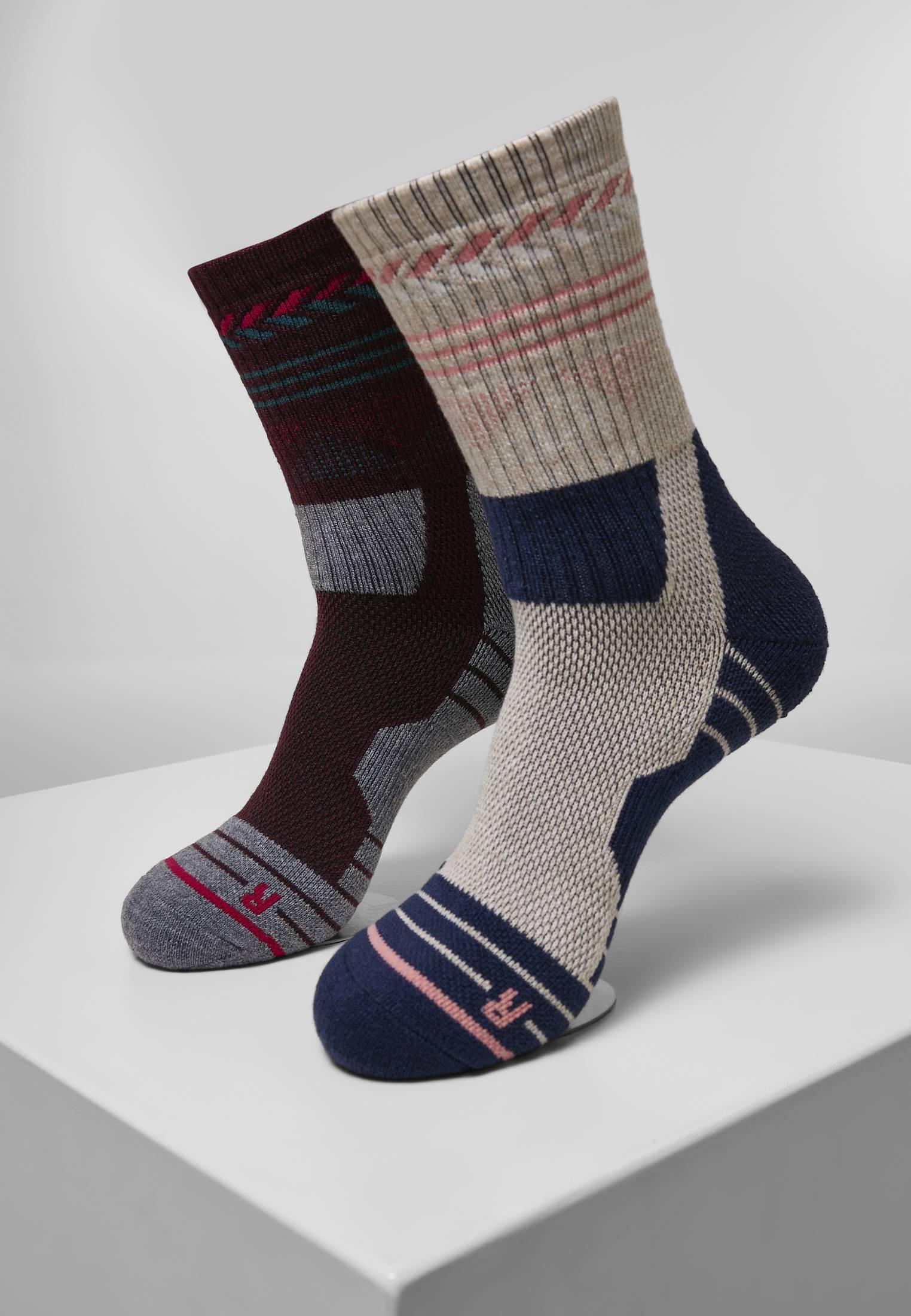 Urban Classics Hiking Performance Socks 2-Pack blue/grey - 39-42