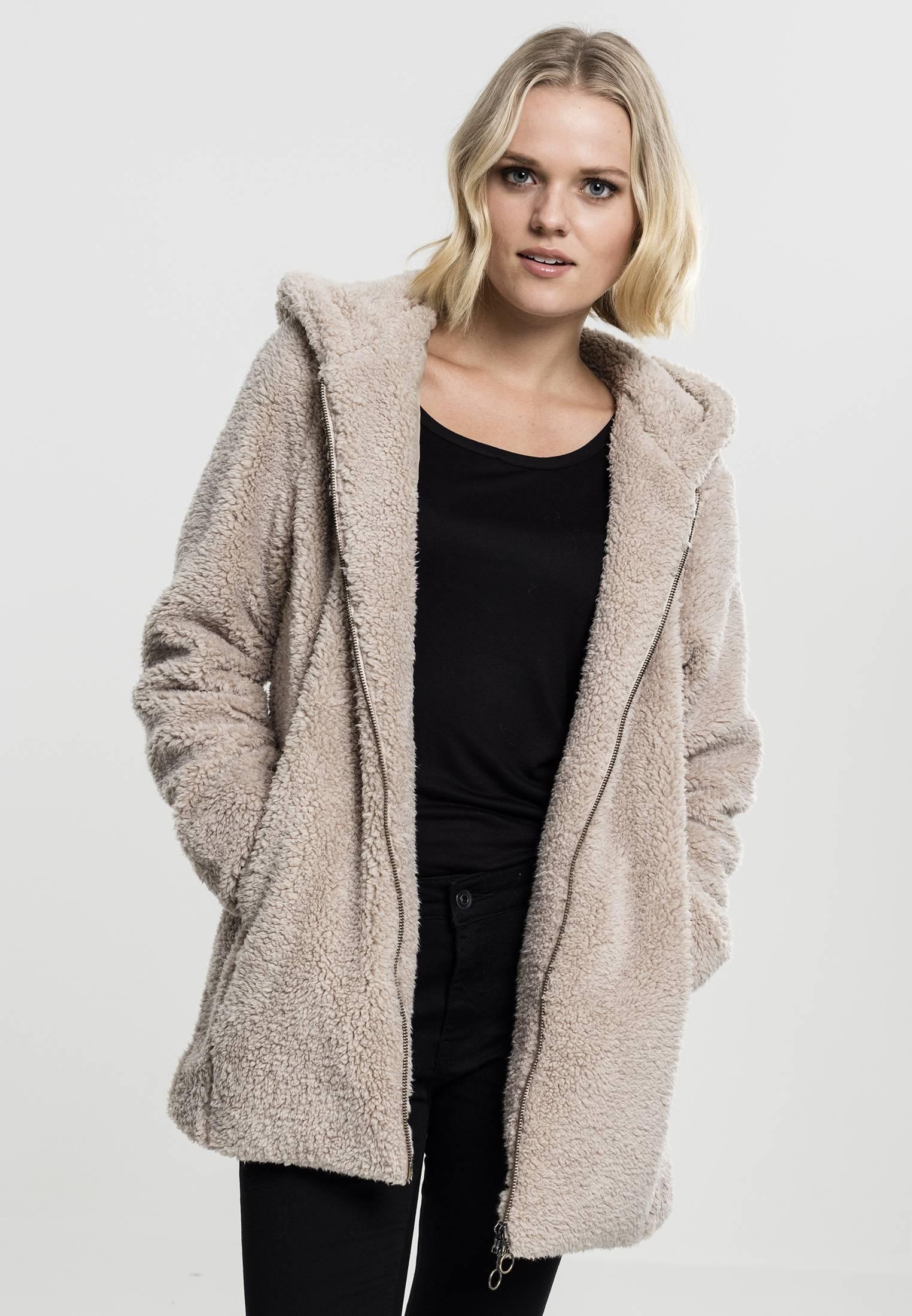 Urban Classics Ladies Sherpa Jacket sand - S