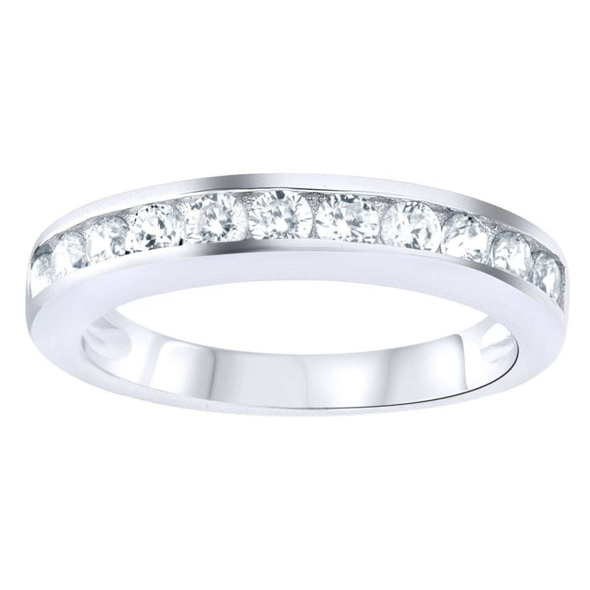 Iced Out Sterling 925 Silver Pave Ring - CZ BAND - 10