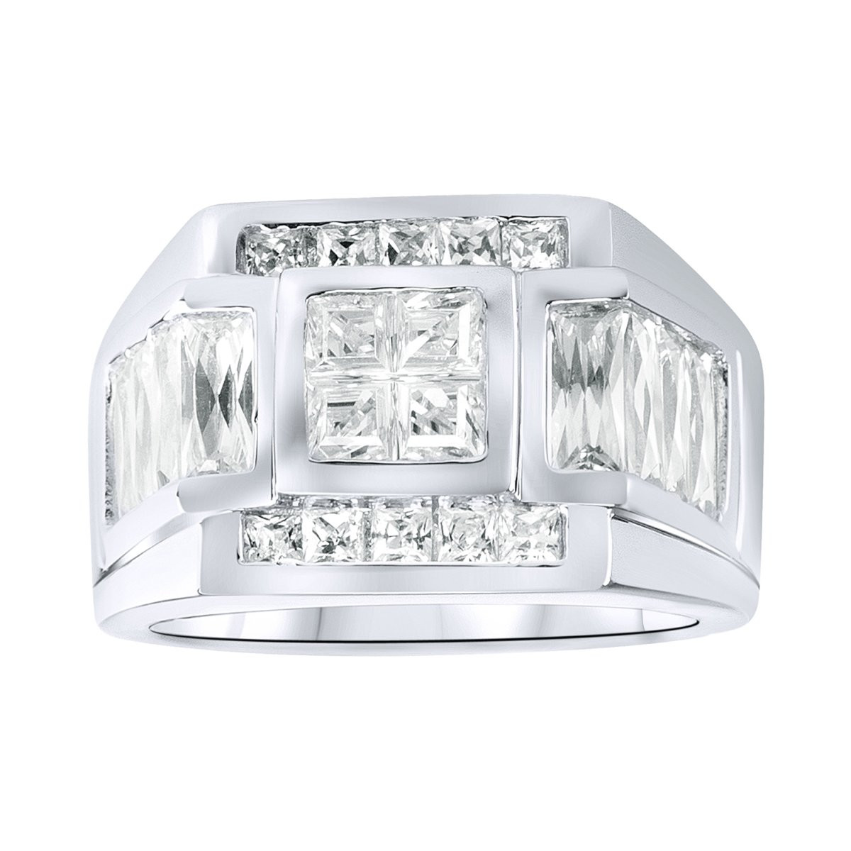 Iced Out Sterling 925 Silver Pave Ring - SPORTY - 10