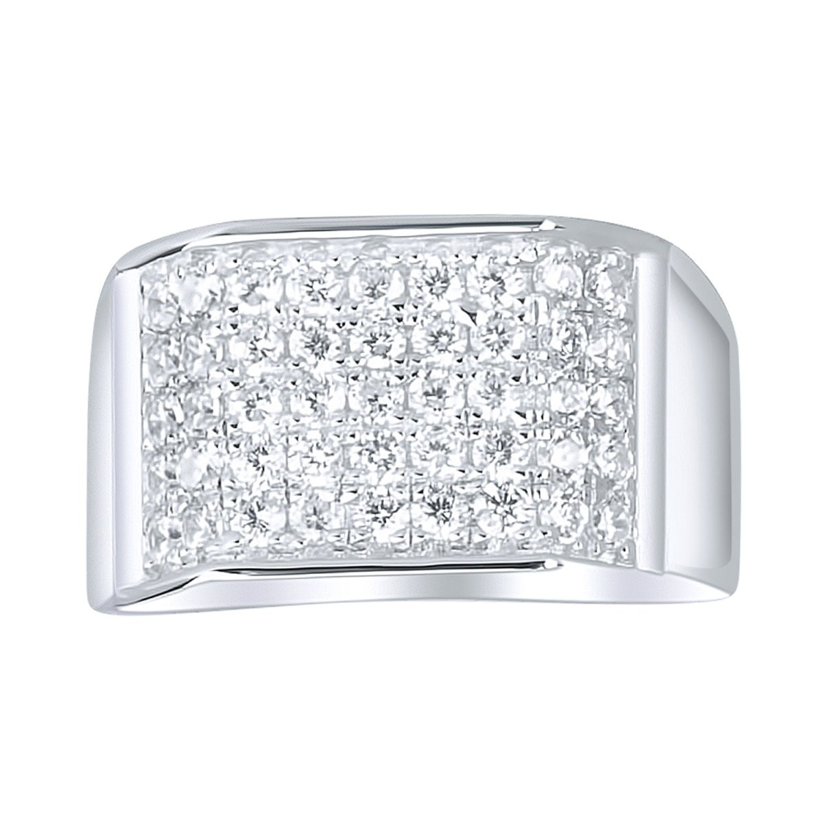 Iced Out Sterling 925er Silber Pave Ring - EDGY - 10