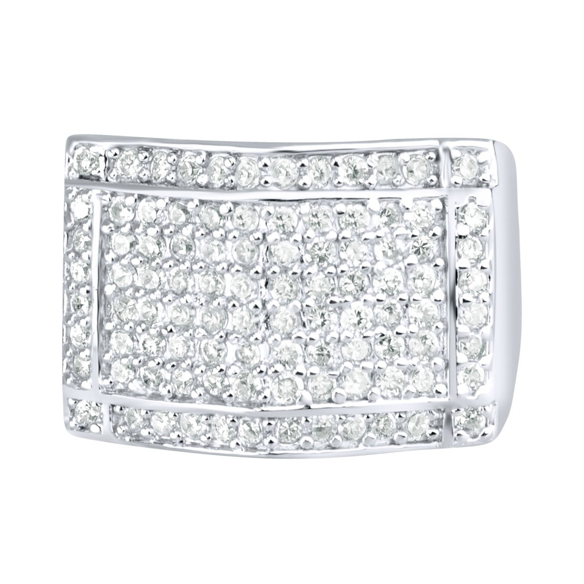 Iced Out Sterling 925er Silber Pave Ring - PEAK - 10
