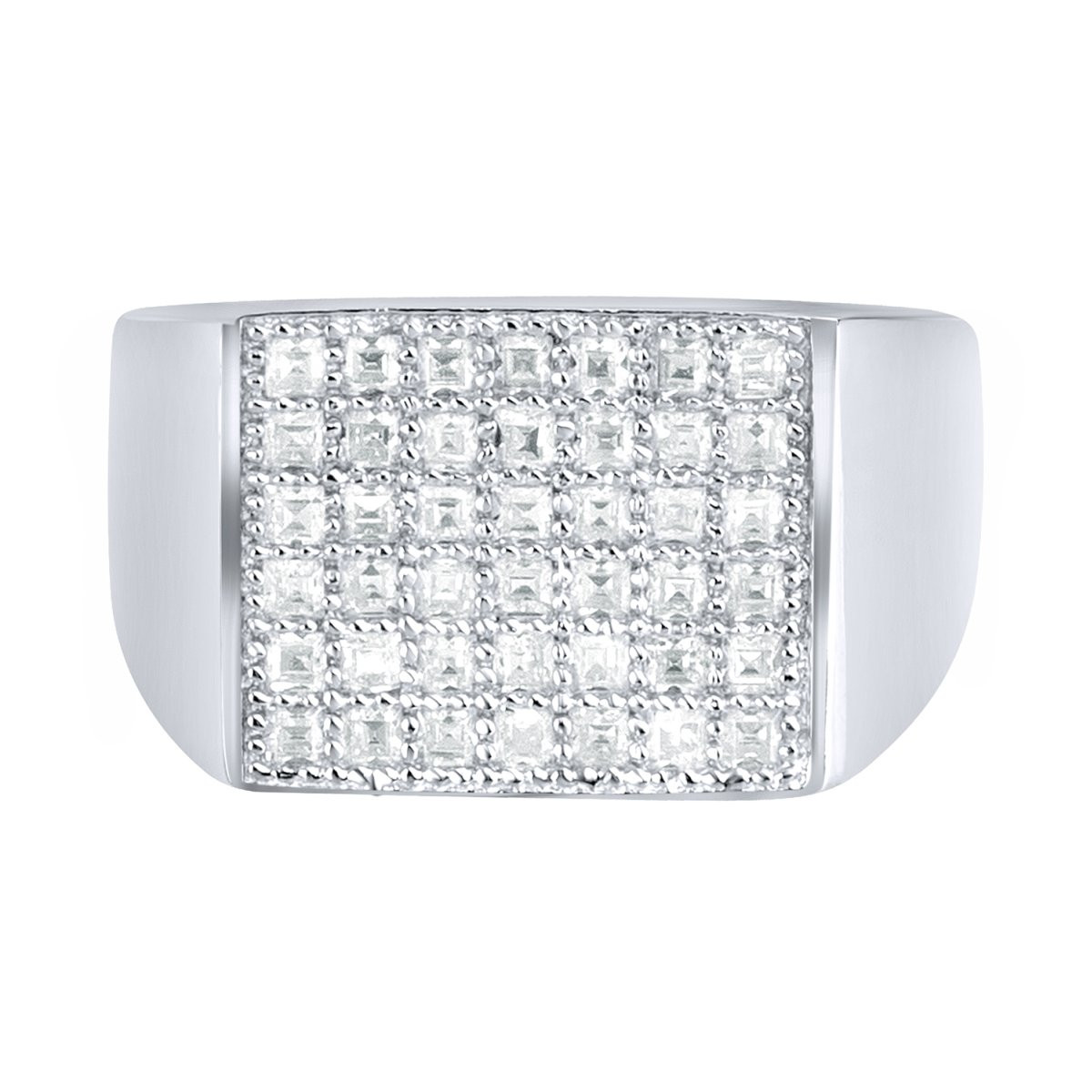 Iced Out Sterling 925er Silber Pave Ring - FLAT - 10