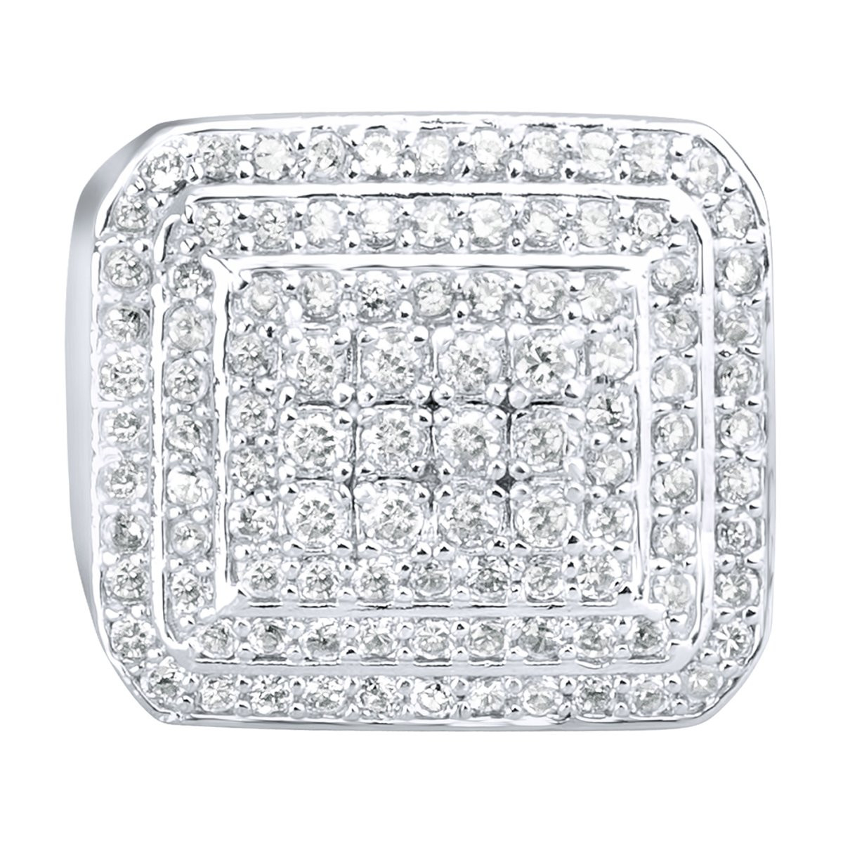 Iced Out Sterling 925er Silber Pave Ring - DOME - 10