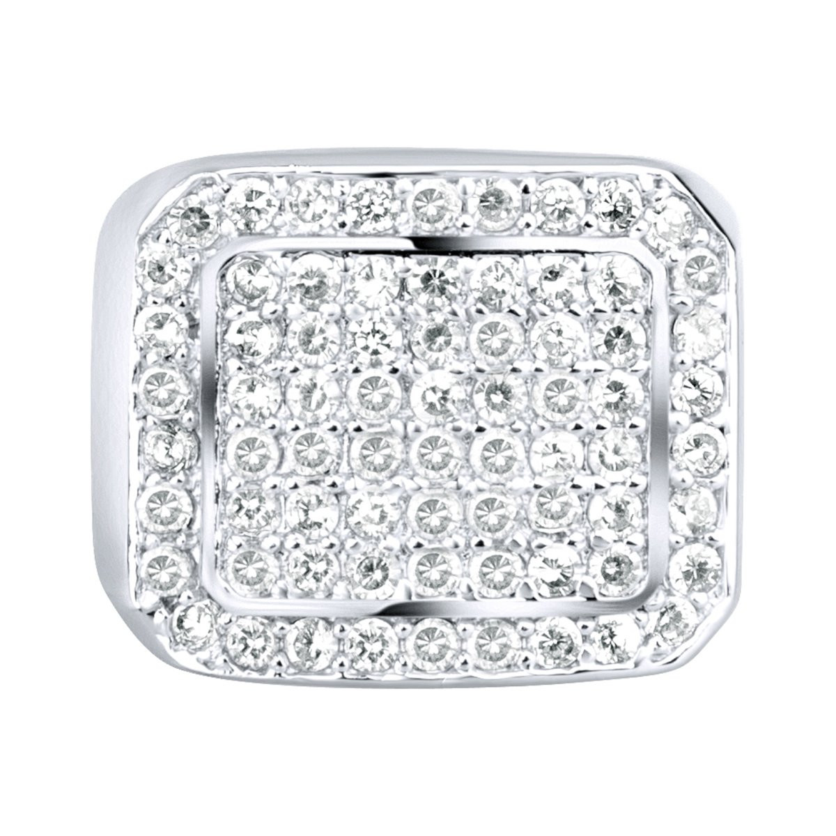 Iced Out Sterling 925er Silber Pave Ring - BLING - 10
