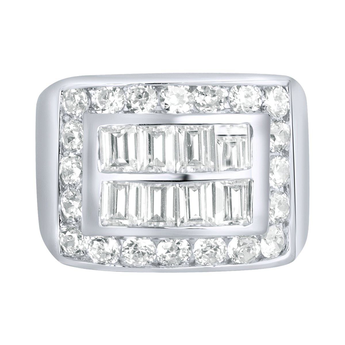 Iced Out Sterling 925er Silber Pave Ring - KING BLING - 10