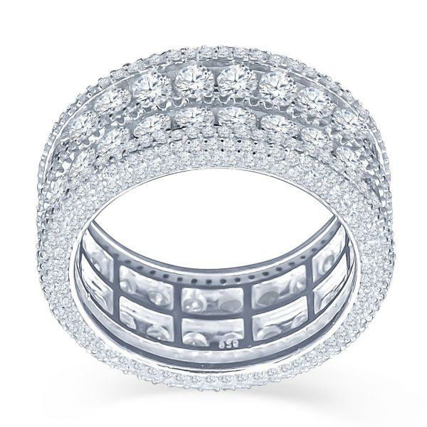 Iced Out Sterling 925er Silber Micro Pave Ring - WINSOME - 10