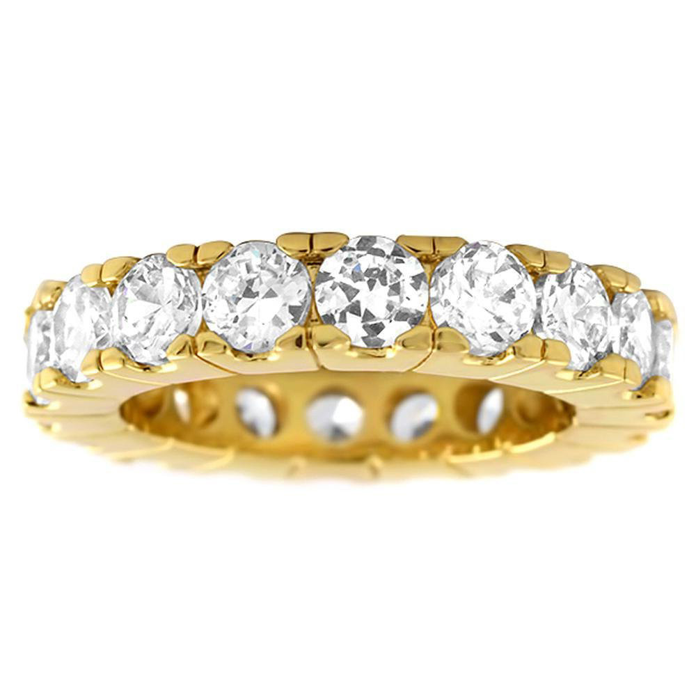 Iced Out Bling Micro Pave Ring - ETERNITY Gold Silver - 10