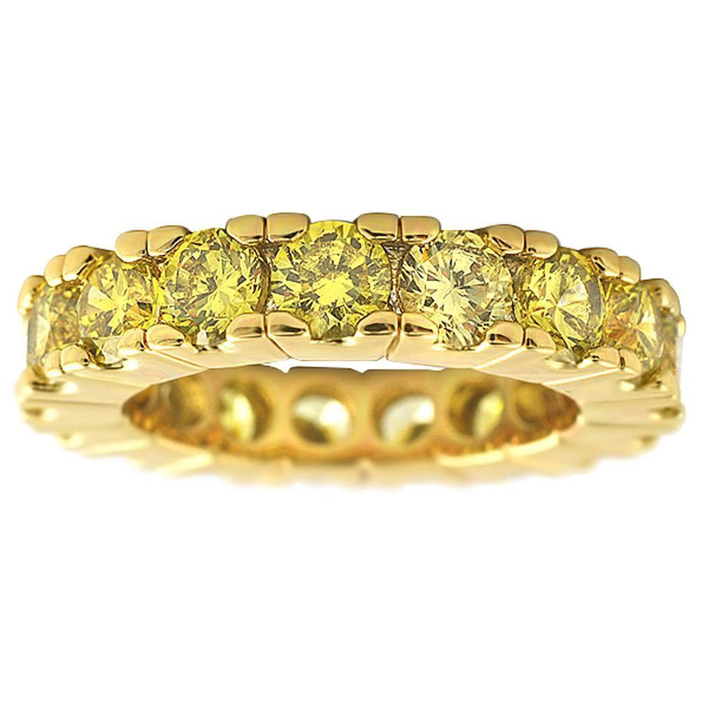 Iced Out Bling Micro Pave Ring - ETERNITY Gold - 10