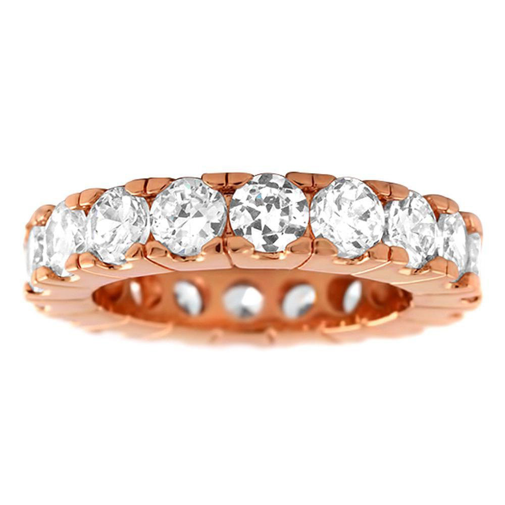 Iced Out Bling Micro Pave Ring - ETERNITY Rose Gold - 10