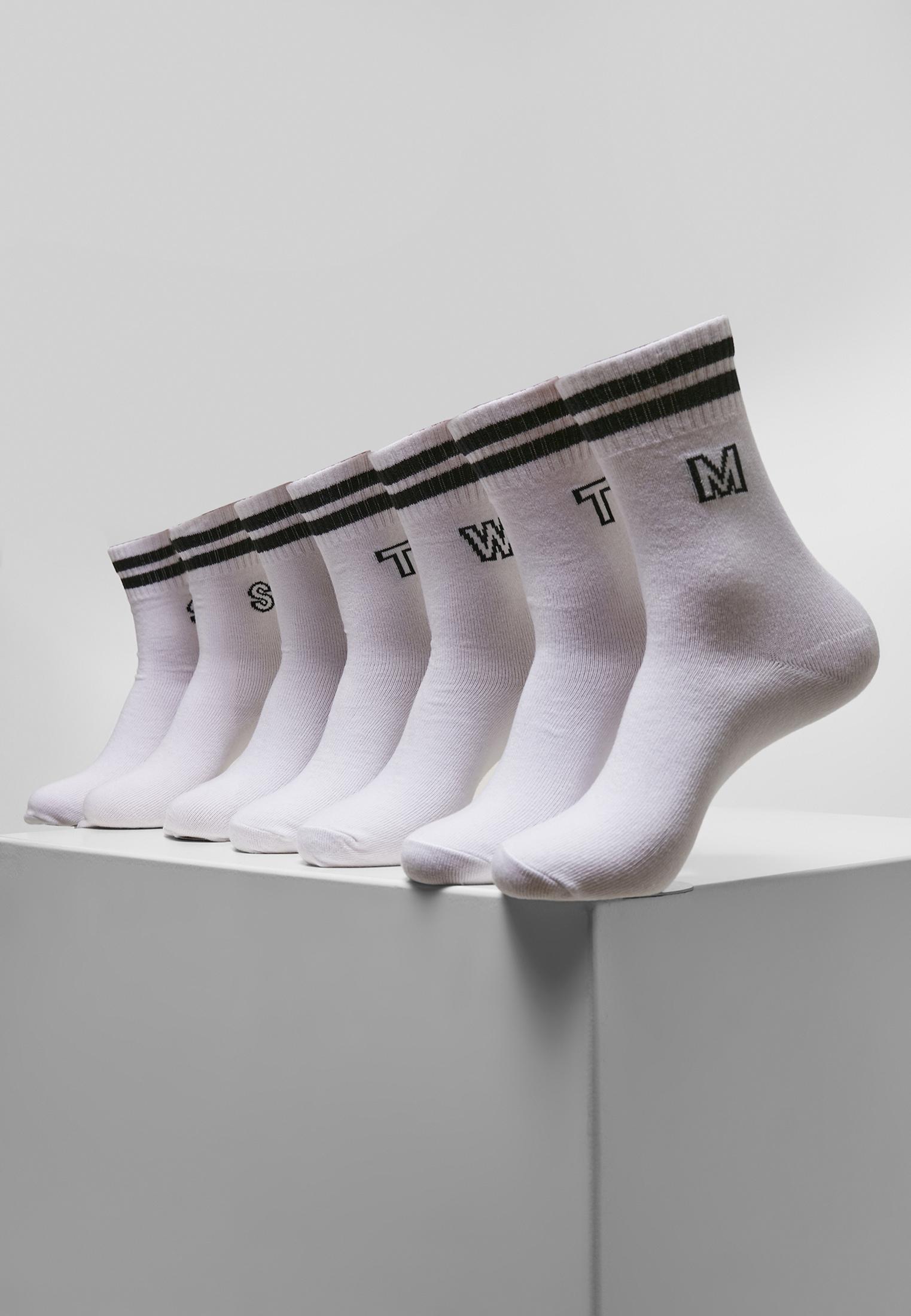 Urban Classics College Letter Socks 7-Pack white - 43-46