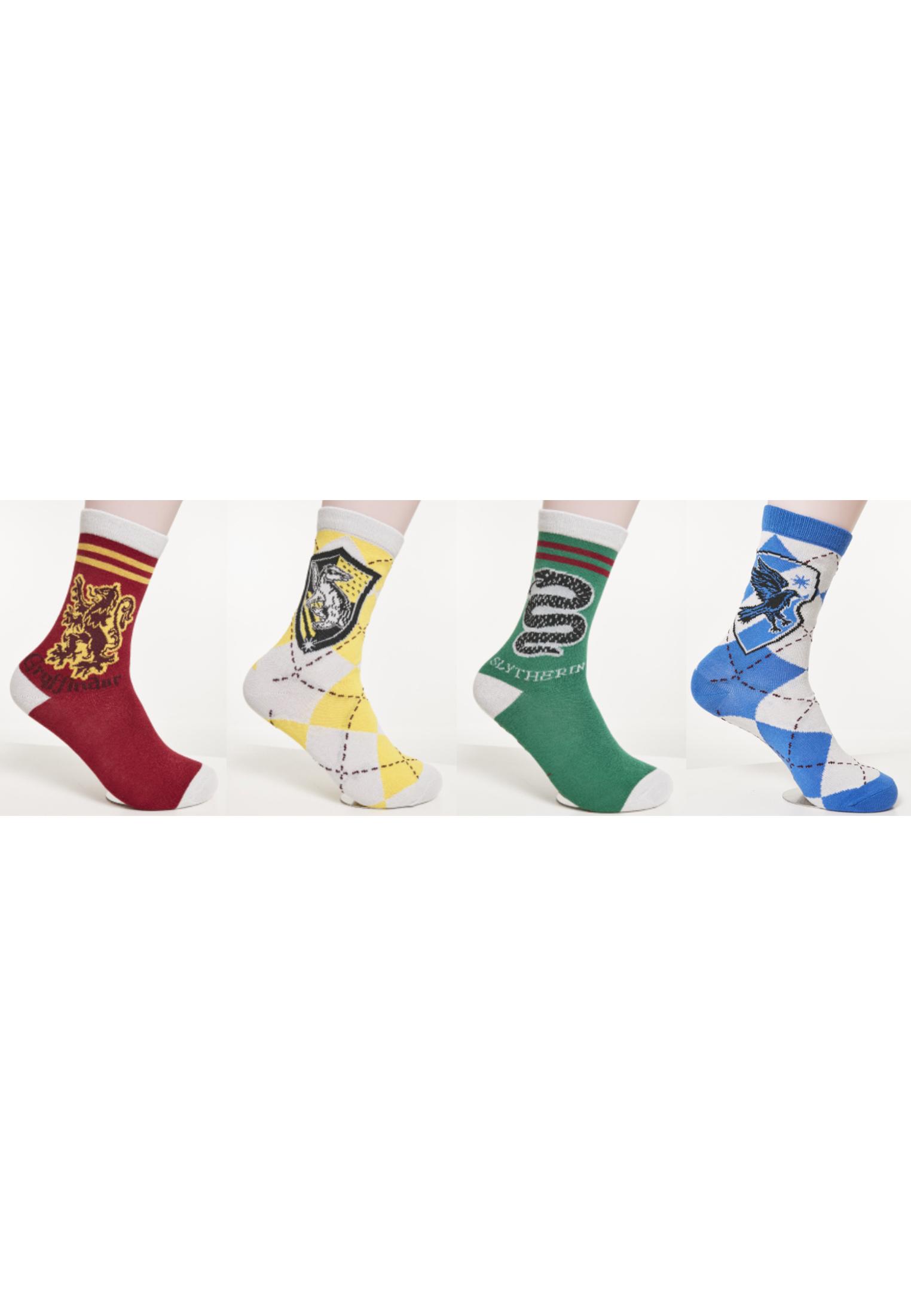 Urban Classics Harry Potter Team Socks 4-Pack multicolor - 47-50