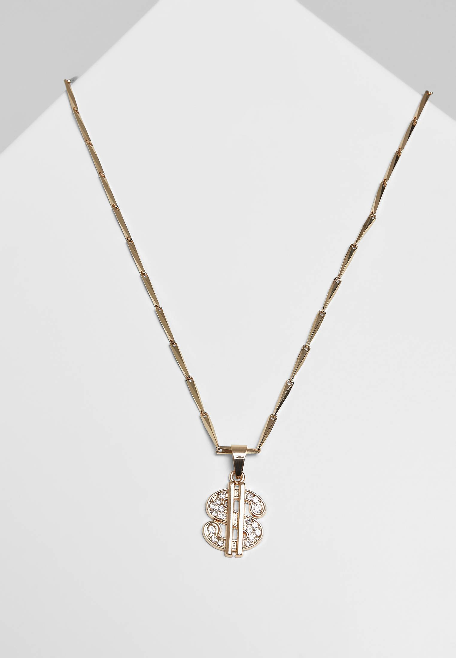 Urban Classics Small Dollar Necklace gold - One Size