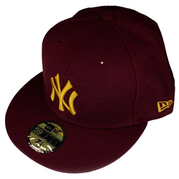 New Era Cap Bordo - 7 1/8