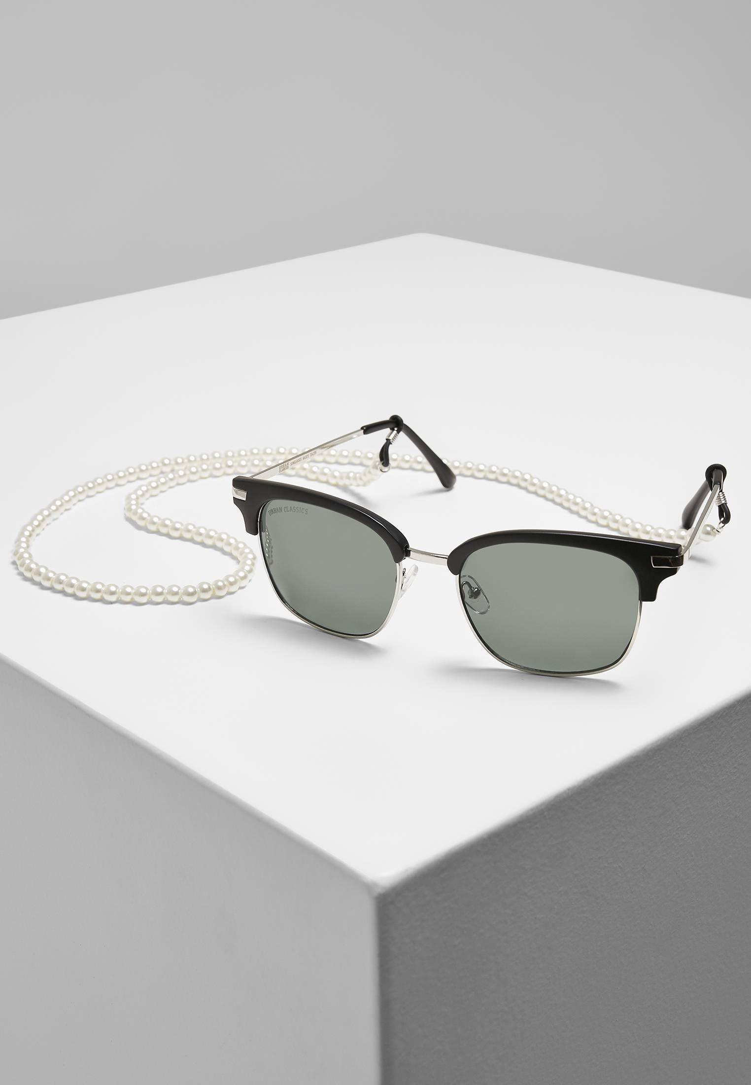 Urban Classics Sunglasses Crete With Chain black/green - One Size