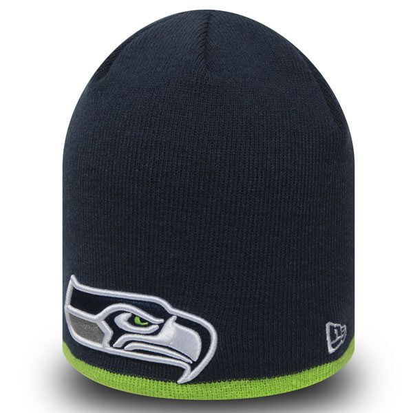 New Era NFL Team Skull knit Seattle Seahawks Navy - Uni