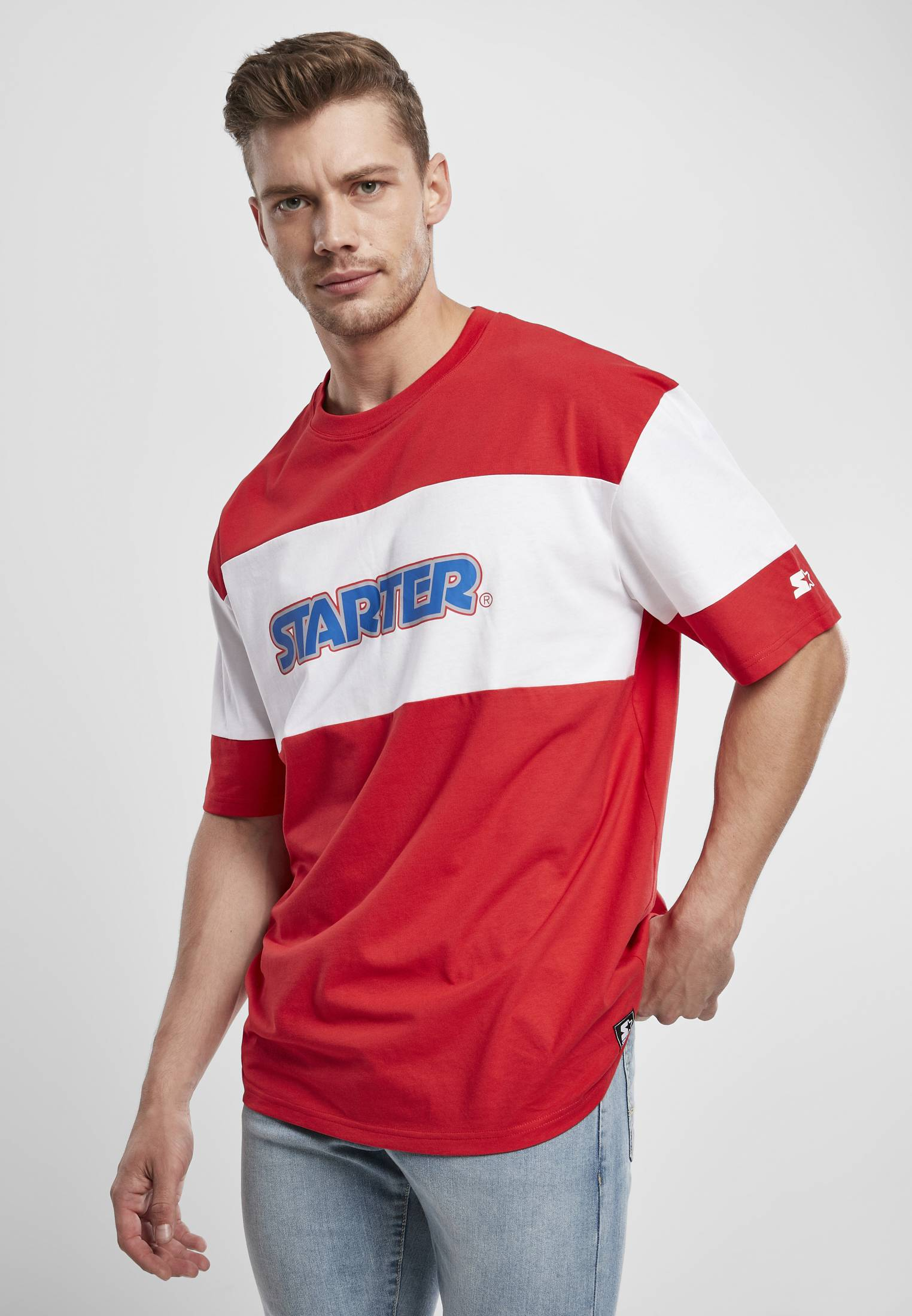 Starter Block Jersey city red/white - L