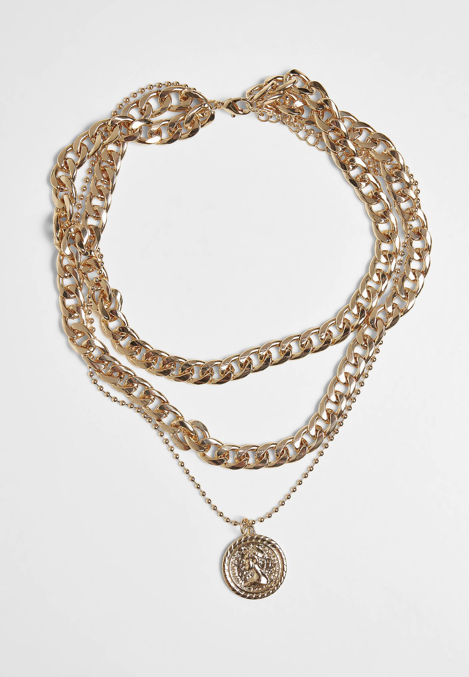 Urban Classics Short Layering Necklace gold - One Size