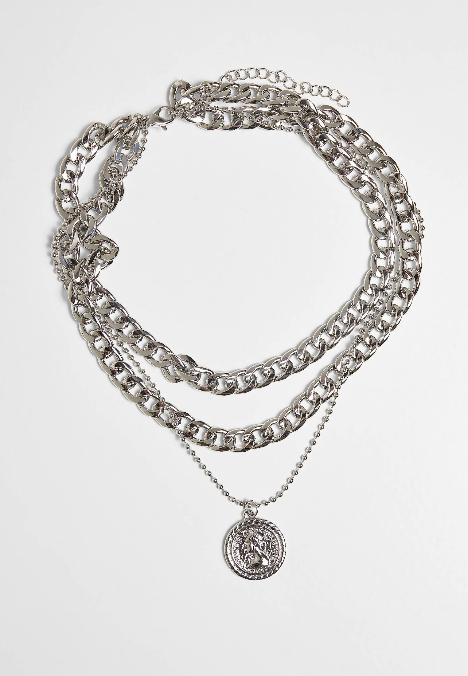 Urban Classics Short Layering Necklace silver - One Size