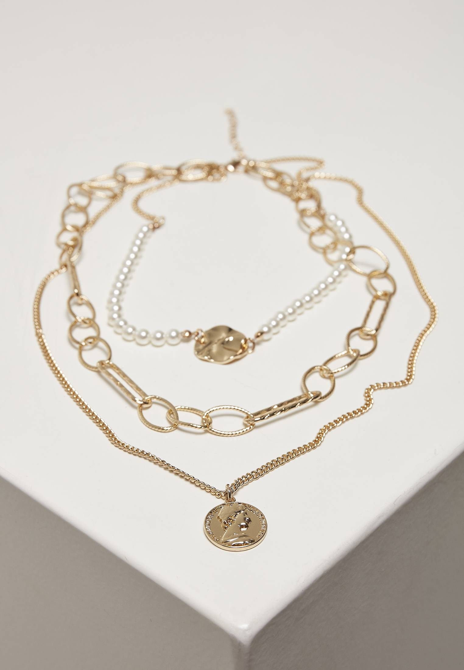 Urban Classics Ocean Layering Necklace gold - One Size